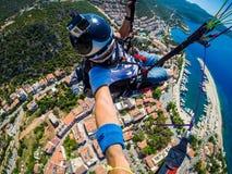 paragliding Turquía, Kas Imágenes de archivo libres de regalías