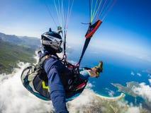 paragliding Turquía, Oludenizudeniz Foto de archivo