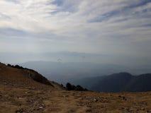 Paragliding w Bir fakturowaniu obrazy stock