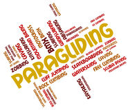 Paragliding Word Indicates Paraglider Glider And Paragliders Royalty Free Stock Photos