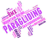Paragliding Word Represents Words Paraglide And Text Stock Image