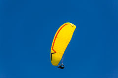 Paragliding Yellow Blue Sky  Royalty Free Stock Images
