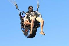 paraglidingtandemcykel Arkivfoton