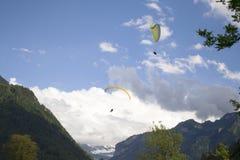 Paragliging Fotografia Stock