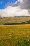 Paraglinding on the floor in the Apennines landscapes Royalty Free Stock Photography
