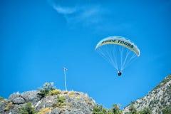 Paraglinding in oludeniz Turkey Stock Images