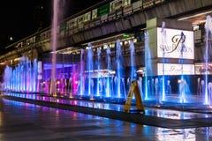 Paragon Siam Bangkok centrum handlowe w nocy scenie na Kwietniu 24 2017 Obrazy Royalty Free