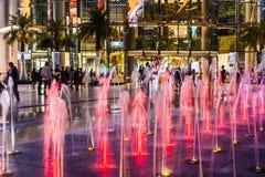 Paragon Siam Bangkok centrum handlowe w nocy scenie na Kwietniu 24 2017 Fotografia Royalty Free
