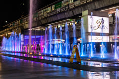 Paragon siam Bangkok mall in night scene on April 24 2017 Royalty Free Stock Images