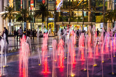 Paragon siam Bangkok mall in night scene on April 24 2017 Royalty Free Stock Photography