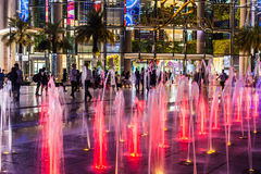 Paragon siam Bangkok mall in night scene on April 24 2017 Stock Image