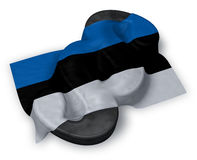 Paragraafsymbool en vlag van Estland Stock Foto