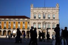 PARAGRAFEN VAN EUROPA PORTUGAL LISSABON DOEN COMERCIO Royalty-vrije Stock Foto