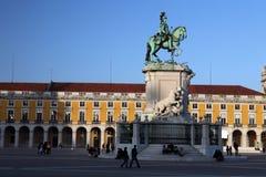 PARAGRAFEN VAN EUROPA PORTUGAL LISSABON DOEN COMERCIO Stock Afbeelding