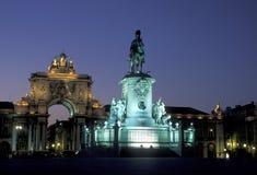 PARAGRAFEN VAN EUROPA PORTUGAL LISSABON DOEN COMERCIO Royalty-vrije Stock Foto's