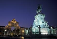 PARAGRAFEN VAN EUROPA PORTUGAL LISSABON DOEN COMERCIO Royalty-vrije Stock Fotografie