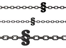 Paragraph chains Stock Photography