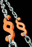 Paragraph chains - letter of law Stock Images