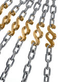 Paragraph in chains - Strong Law Stock Photo