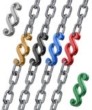 Paragraph in chains v2 Royalty Free Stock Photography