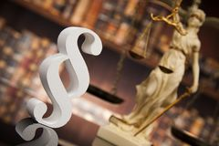 Paragraph, law and justice concept, wooden gavel, mirror backgro. Court gavel,Law theme, mallet of justice, Paragraph, mirror background stock photography