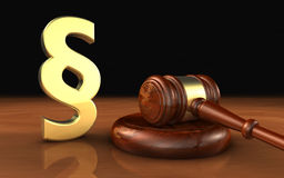 Paragraph Law Symbol And Judge Gavel Stock Photo