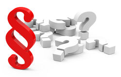 Paragraph questions Royalty Free Stock Images