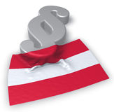 Paragraph symbol and austrian flag. 3d rendering Royalty Free Stock Photography