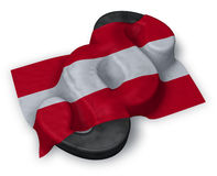 Paragraph symbol and austrian flag. 3d rendering Royalty Free Stock Image