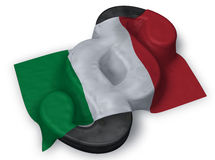 Paragraph symbol and flag of italy Royalty Free Stock Photos