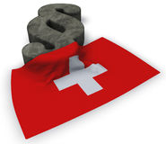 Paragraph symbol and flag of switzerland Royalty Free Stock Photo