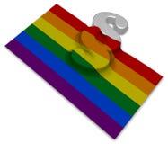Paragraph symbol and rainbow flag Royalty Free Stock Photos