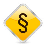 Paragraph symbol yellow icon Royalty Free Stock Images