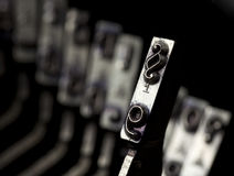 Paragraph typebar. On vintage typewriter royalty free stock images