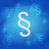 Paragraph unterzeichnet vorbei blauen Hintergrund, flaches Design Stockbild
