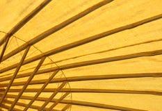 Paraguas abstracto del bambú del balneario Foto de archivo