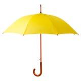 Paraguas amarillo Imagen de archivo