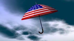 Paraguas americano en el cielo Fotos de archivo libres de regalías