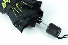 Paraguas automático cerrado negro Fotos de archivo libres de regalías