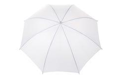 Paraguas blanco Fotografía de archivo