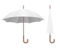 Paraguas blanco ilustración del vector