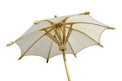 Paraguas blanco aislado Fotos de archivo libres de regalías