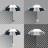 Paraguas blancos y negros ilustración del vector
