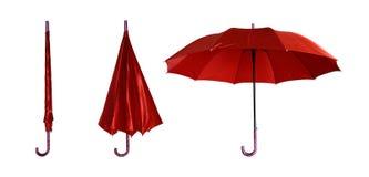 Paraguas cerrado y abierto Imágenes de archivo libres de regalías