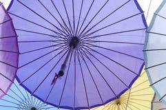 Paraguas chinos del papel de aceite Imagen de archivo