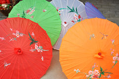 Paraguas coloreado viejo Fotografía de archivo libre de regalías