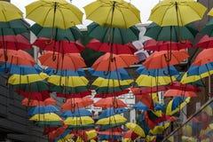 Paraguas coloreados foto de archivo libre de regalías