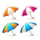 Paraguas coloreados Fotos de archivo libres de regalías