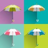 Paraguas coloreados stock de ilustración