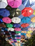 Paraguas coloreados Imagen de archivo libre de regalías